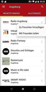Radiosender Augsburg  - Deutschland ảnh chụp màn hình 1