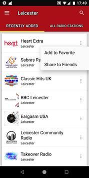 Leicester Radio Stations - UK screenshot 1
