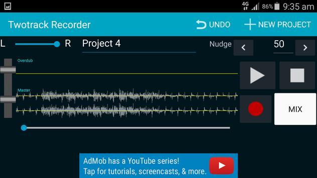 Twotrack studio recorder screenshot 1