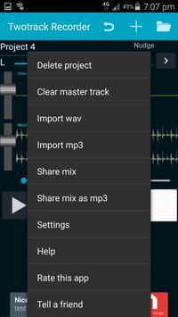 Twotrack studio recorder screenshot 2
