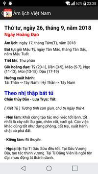 Vietnamese lunar calendar screenshot 2