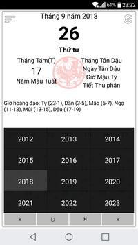 Vietnamese lunar calendar screenshot 3