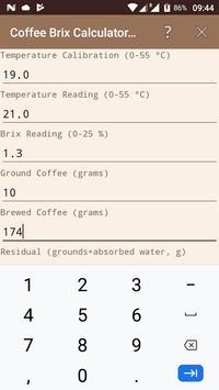 Coffee Brix Calculator Lite screenshot 1