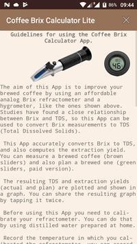 Coffee Brix Calculator Lite screenshot 2