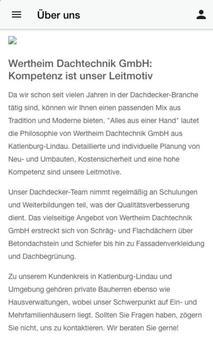 Wertheim Dachtechnik GmbH screenshot 1