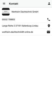 Wertheim Dachtechnik GmbH screenshot 2