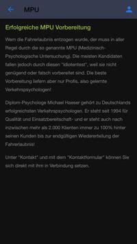 Verkehrspsychologe MPU Haeser screenshot 1