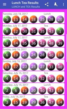 Lunch and Tea Lotto Results  for Android - APK Download