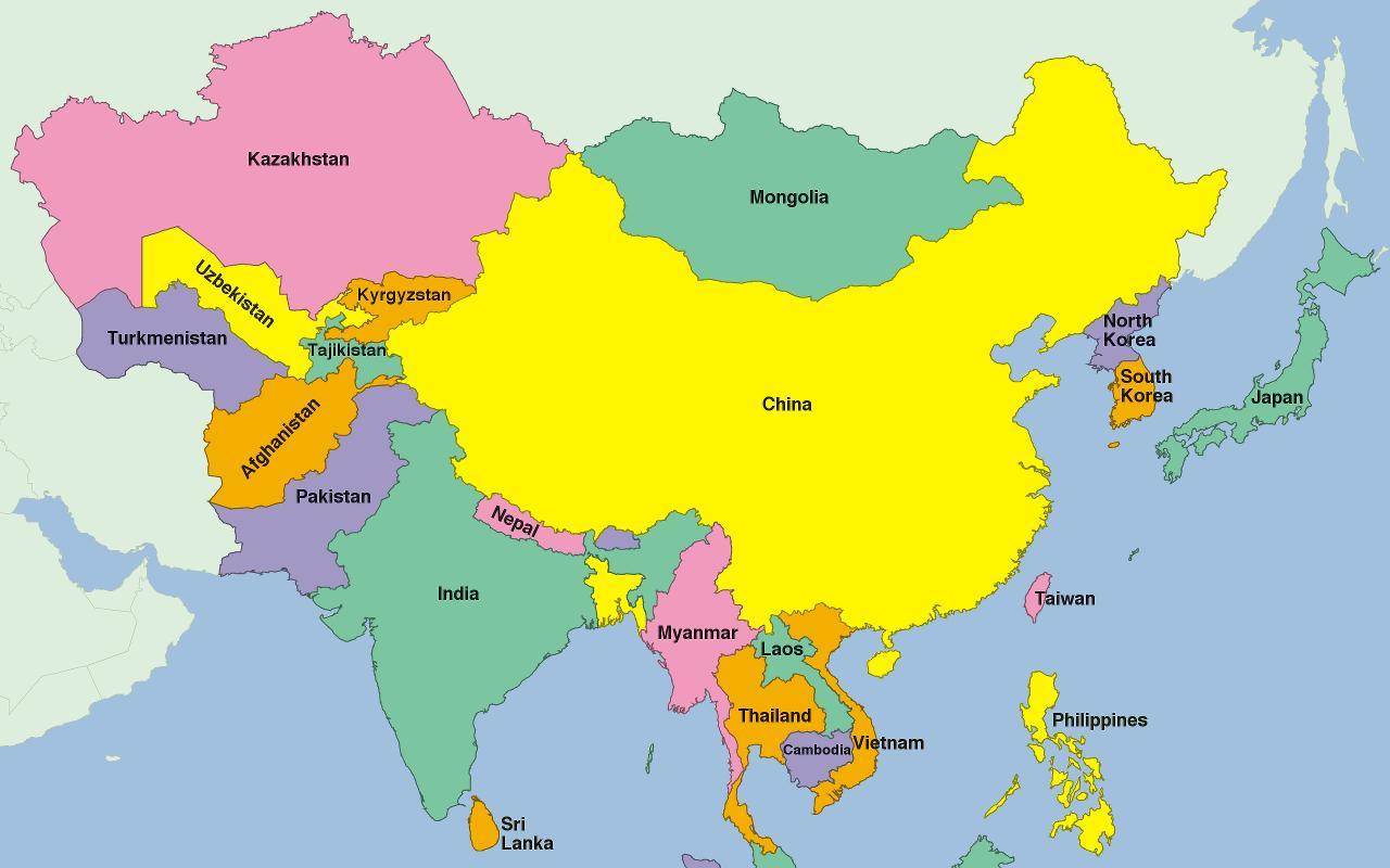 Asia Map Puzzle für Android - APK herunterladen