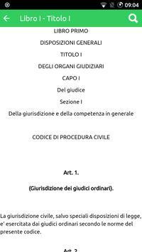 Codice Procedura Civile capture d'écran 2