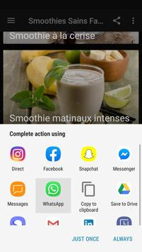 Recettes Smoothies Sains Faciles et Rapide screenshot 7