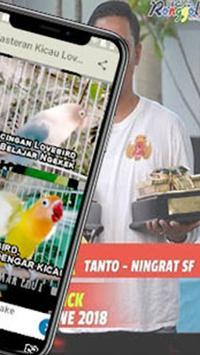 Training Kicau Lovebird Masteran Offline screenshot 1