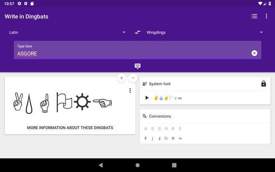 Gaster Dingbats: Wingdings translator & keyboard Ekran Görüntüsü 10