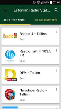 Estonian Radio Stations poster