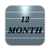 Twelve Month Calendar icono