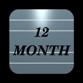 Twelve Month Calendar 圖標