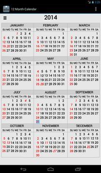 Twelve Month Calendar 截圖 9