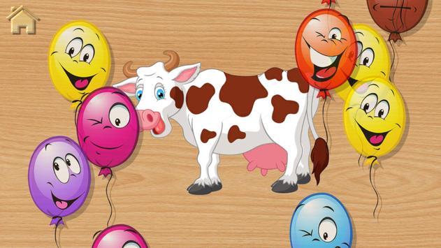 बच्चों और पशु ध्वनियों के लिए बेबी पहेलियाँ स्क्रीनशॉट 15