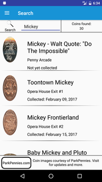 Pressed Coins at Disneyland screenshot 7