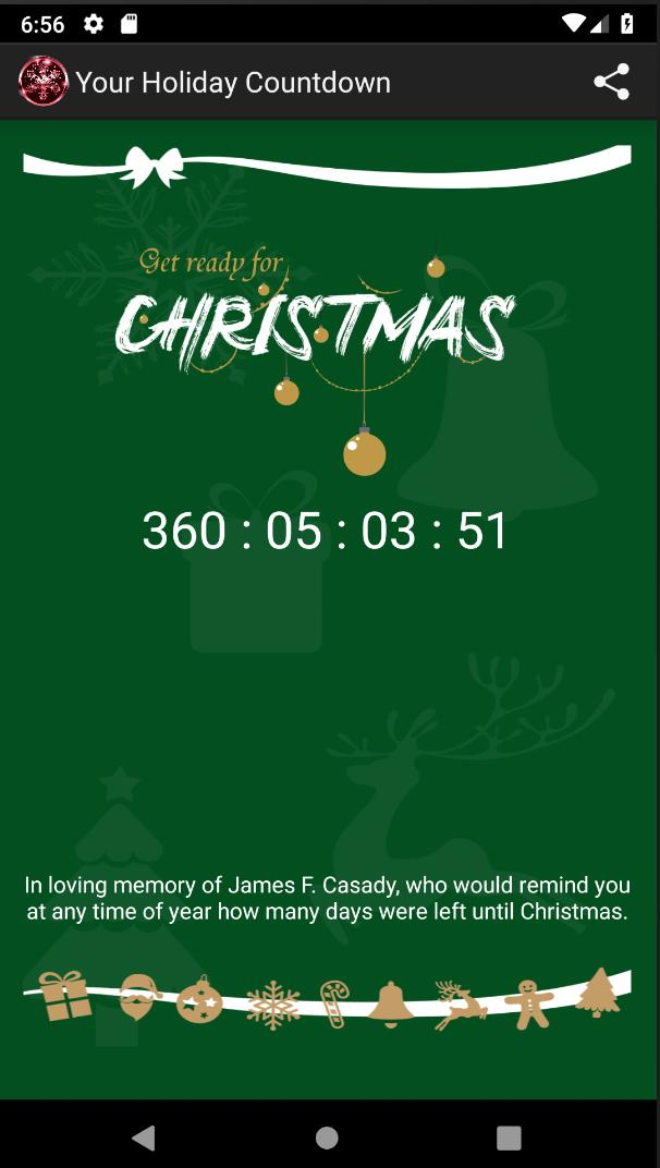 How Many Days Left For Christmas.Your Countdown Of Days To Christmas For Android Apk Download