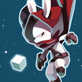 Rabbit in the moon icon