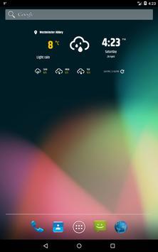 심플한 날씨 & 시계 위젯 스크린샷 8