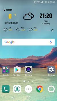 Simple weather & clock widget (no ads) screenshot 1