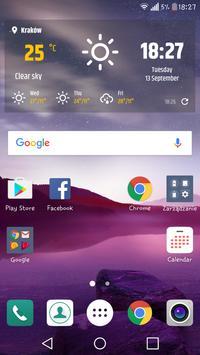Simple weather & clock widget (no ads) screenshot 2