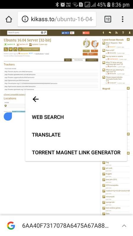 torrent magnet link not working