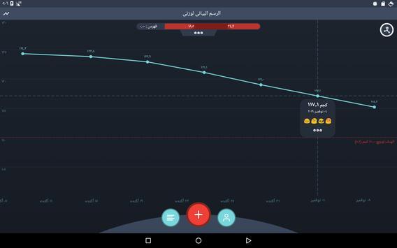 متتبع خسارة الوزن، مؤشر كتلة الجسم تصوير الشاشة 8