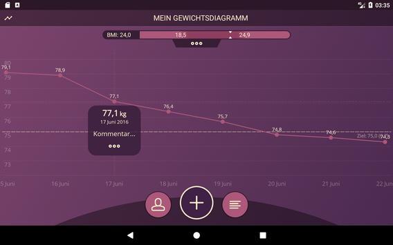 Gewichtstagebuch, BMI Screenshot 9