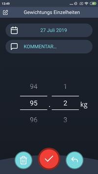 Gewichtstagebuch, BMI Screenshot 2
