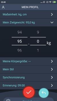 Gewichtstagebuch, BMI Screenshot 5
