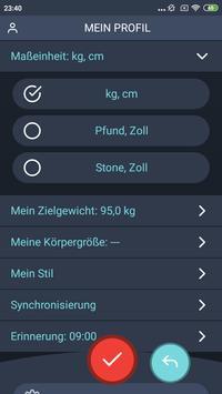 Gewichtstagebuch, BMI Screenshot 6