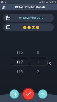 Pemantauan Penurunan Berat Badan, BMI screenshot 2