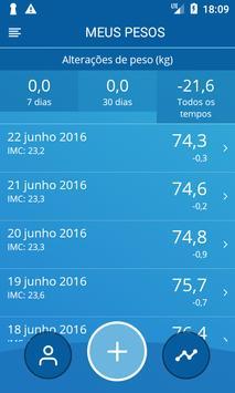 Diário de peso, IMC imagem de tela 1
