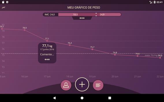 Diário de peso, IMC imagem de tela 7