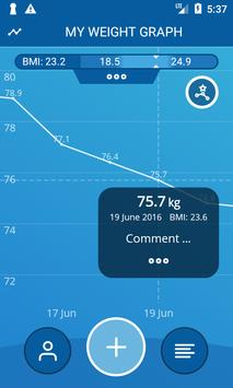 Handy Weight Loss Tracker, BMI poster
