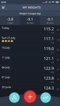 Handy Weight Loss Tracker, BMI screenshot 1
