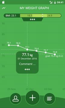 Handy Weight Loss Tracker, BMI screenshot 2