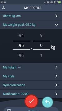 Handy Weight Loss Tracker, BMI screenshot 4