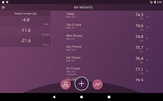 Handy Weight Loss Tracker, BMI screenshot 9