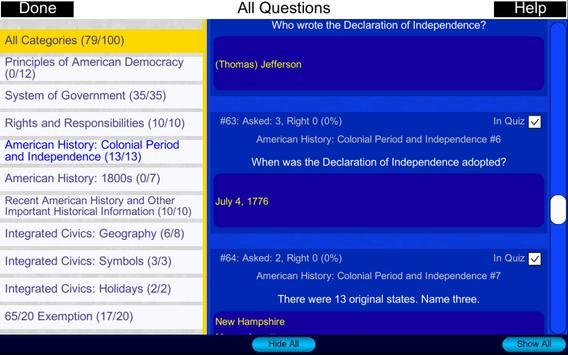 Free US Citizenship Test 2019 screenshot 19
