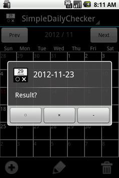 SimpleDailyChecker - Done app screenshot 1