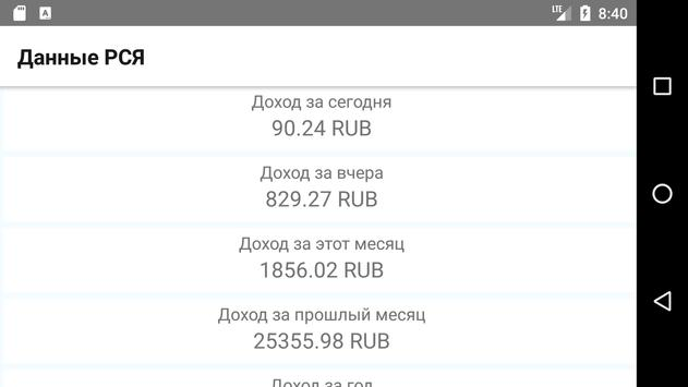 Данные РСЯ screenshot 3