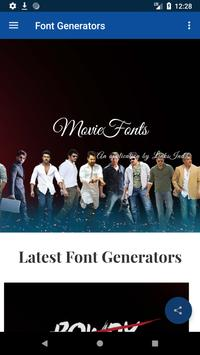 Movie Fonts : Movies Style Name Generator for Android - APK