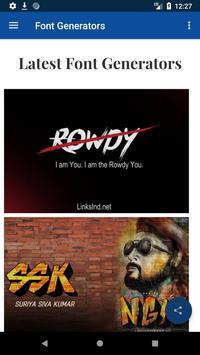 Movie Fonts : Movies Style Name Generator screenshot 1