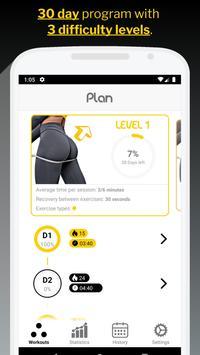 30 Day Butt & Leg Challenge women workout home الملصق