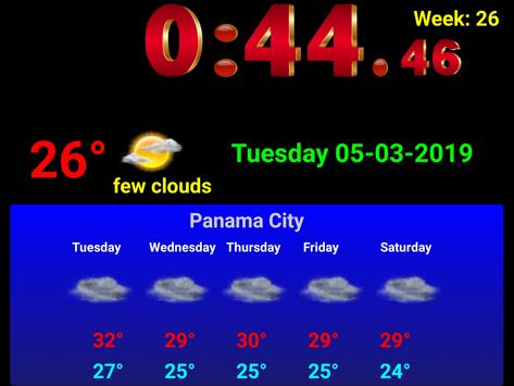 Full screen digital clock with weather station screenshot 11