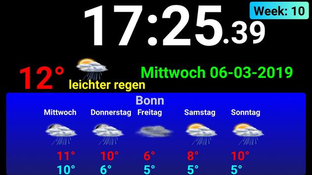Full screen digital clock with weather station screenshot 3